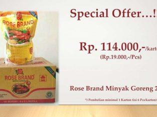TERMURAH! Minyak Goreng Pouch 2 Liter Rose Brand