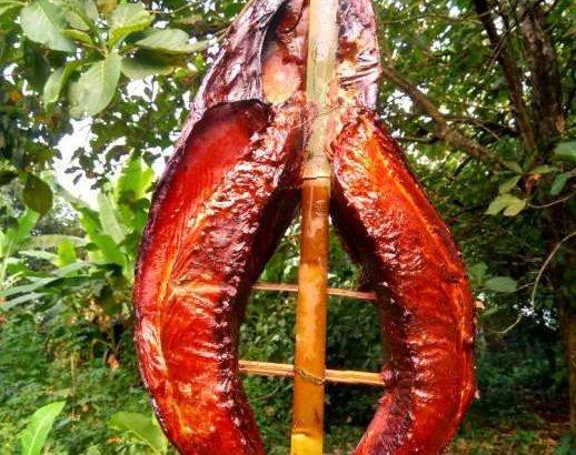 Ikan cakalang fufu asap