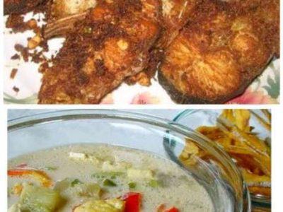 Iwak patin + sayur lodeh masakan rumahan