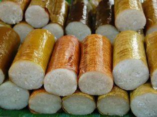 Nasi jaha atau nasi lemang khas manado