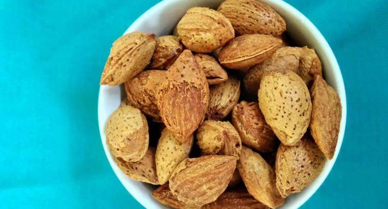 Kacang Almond Milky Roasted, Kacang Almond panggan