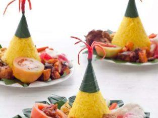 Nasi tumpeng mini menu sehat harga hemat Tegal