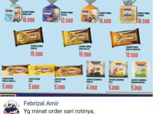 Sari roti pekanbaru resmi distributor