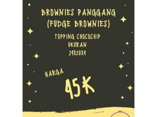 Brownies Panggang (Fudge Brownies)