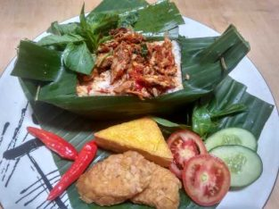 Nasi Bakar Tongkol pedas