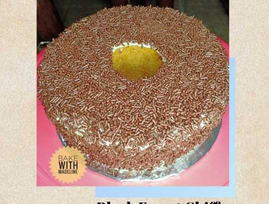 Black Forest Chiffon Cake by Bake with Madeline