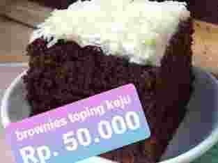 Brownies Toping Keju