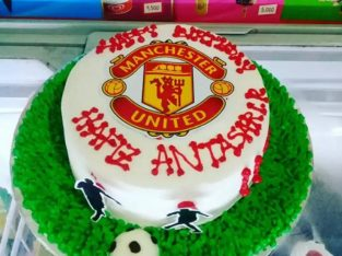 kue ultah / ulang tahun bola MU