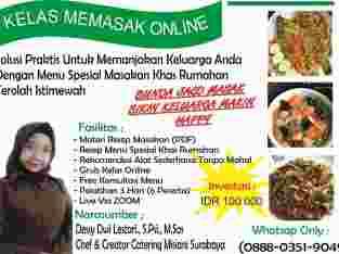 Kelas Kursus Memasak Online Surabaya