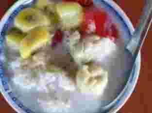 Es Kolding Durian dan Strawberry