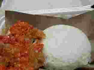 ayam geprek + nasi