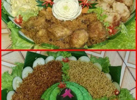 Nasi tumpeng unik nasi hijau