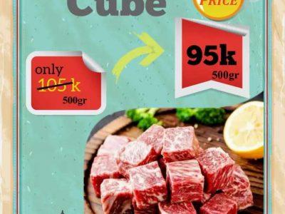 Jual Daging Wagyu Saikoro Cube 500 Gram