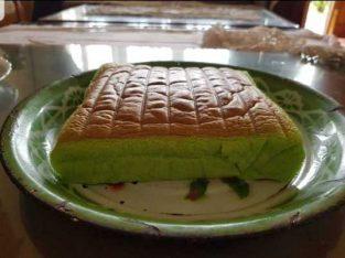 Ogura Pandan Cake