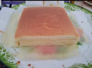 Taiwanesse Castella Cheesecake. Pesanan dibuat terlebih dahulu.