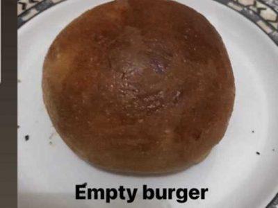 Empty burger